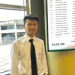 Jinyi Lan presents at the 20th Undergraduate Symposium at the University of Wisconsin-Madison